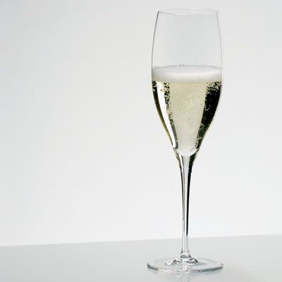 A typical champagne flute