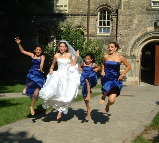 Hilda Umbelina Andrade's daughter at her wedding Day, pictured with her sister (Maid of Honour) and her two step daugthers in Toronto, Canada