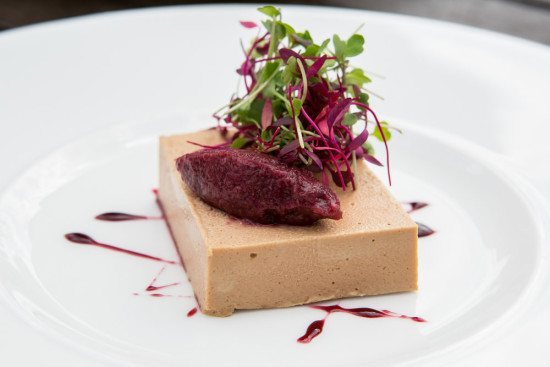 Chicken liver parfait, yum!