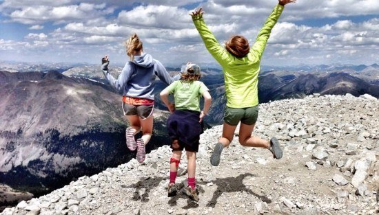 Alison Chino's daughter and nieces jumping at 14000 ft in Colorado, USA