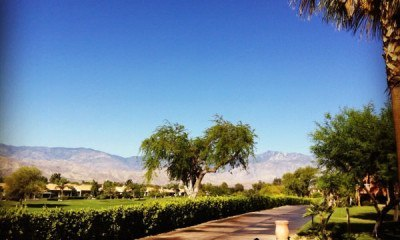 The view from our villa at the Westin Mission Hills