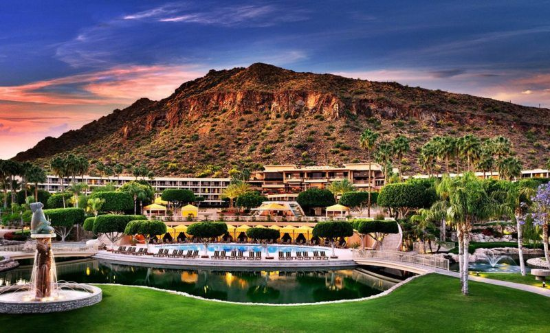 24 hours in scottsdale Arizona Phoenician resort canyon suites luxury collection Starwood marriott bonvoy