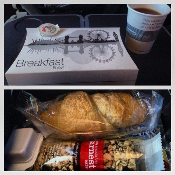 BA Premium Economy world traveller plus breakfast