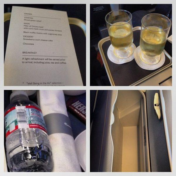 British airways premium economy meal