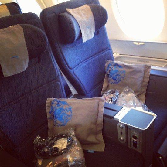 The new British Airways World Traveller Plus seat