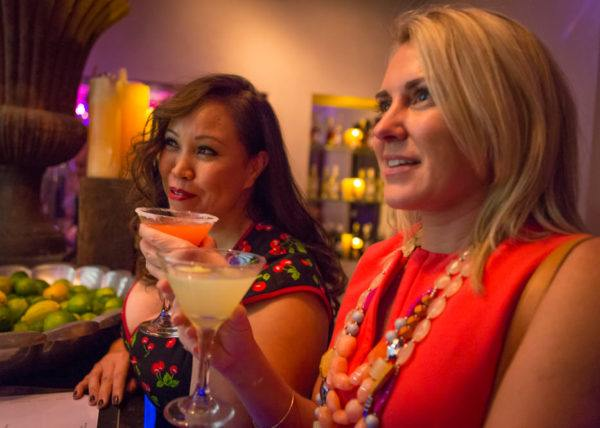 A fab girls night out at SUR in West Hollywood - weekend in LA flytographer