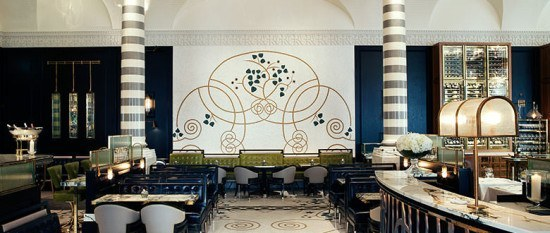 The stylish Massimo restaurant