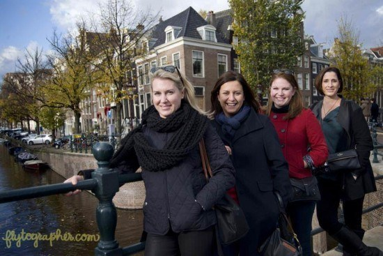 Lauren, yours truly, Ashley and Mary Anne - the girls in Amsterdam by Flytographer