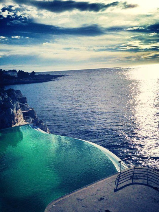 Champagne with a view for sure at Hotel du Cap