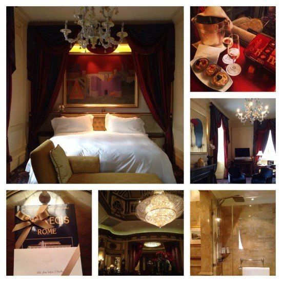 We had a stunning suite at the St. Regis Rome