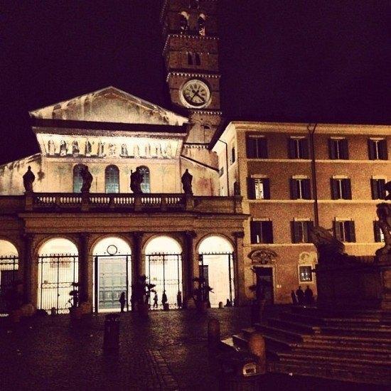 Piazza di Santa Maria a Trastevere. Loved it.