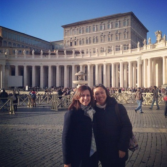 Yours truly and the lovely Diana at St. Peter's Square in Rome. Always very special to go back to the Vatican every time I visit Rome.