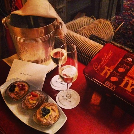 That prosecco just arrived at the right moment… thank you, St. Regis