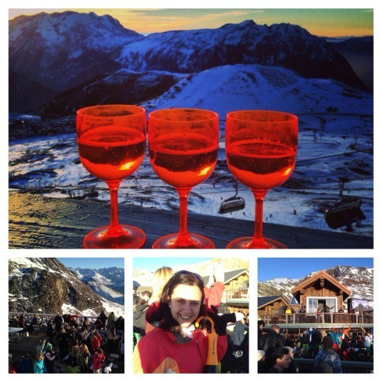 Champagne and a view. Always fun at La Folie Douce.
