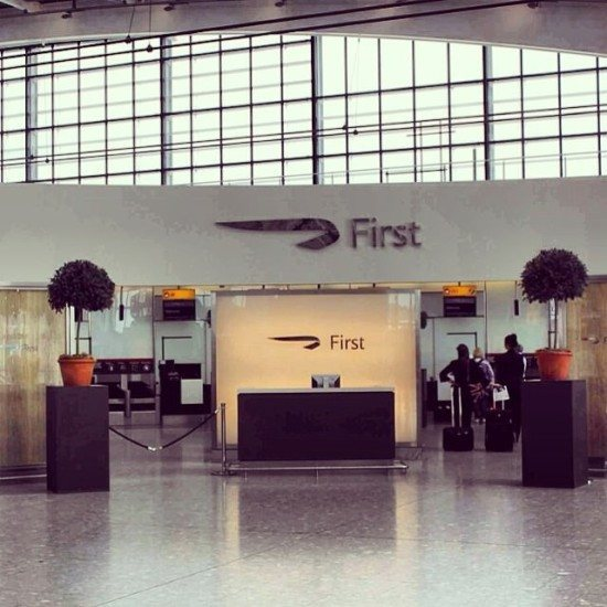 The BA First Check-In area at LHR