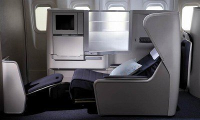 The BA Club World seat before it turns into a flat bed