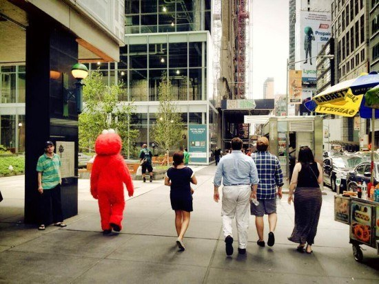 Of course Elmo walks with you every time!