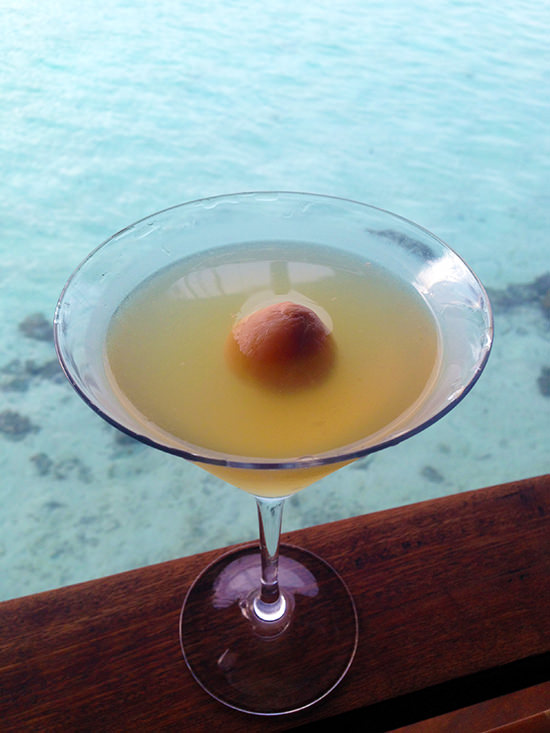 Yummy lychee cocktails… I miss Lux Maldives already!