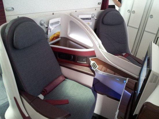 The new Qatar Airways Business Class seats were very good.