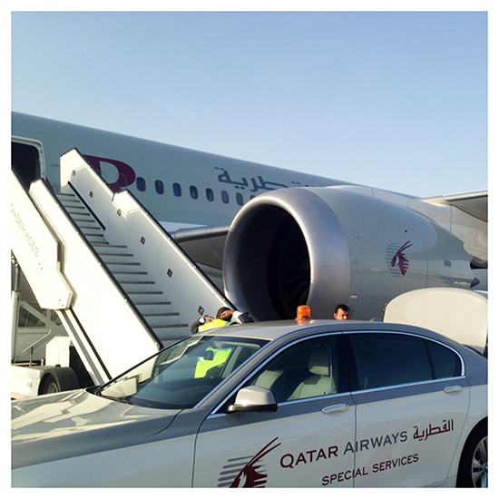 This is how one boards a plane, Qatar Airways' style