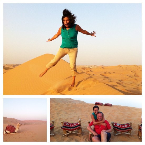 I jumped again… and we saw some camels!