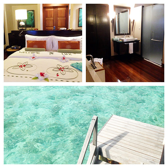 Our water villa at Lux Maldives