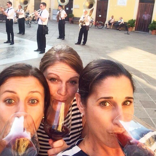 There was even a parade on the main square. We had to toast to them!