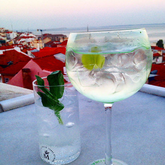 My Gin Mare was Spanish and delicious, but the view was 100% Portuguese. Cheers.