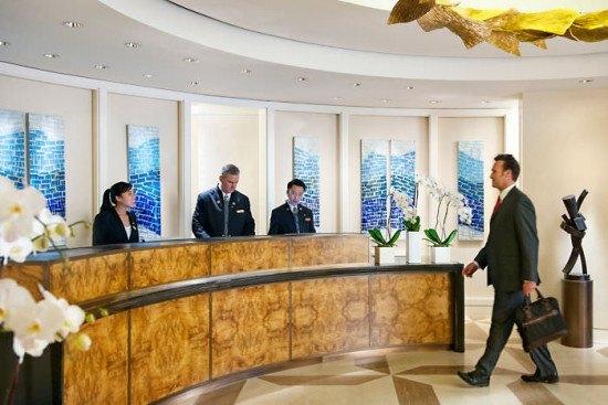 The reception area. Photo by Mandarin Oriental.