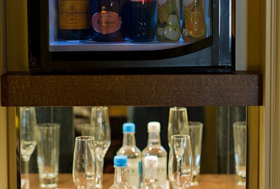 Not your average minibar, and included in all room rates (soft drinks only)