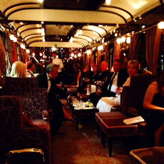 orient express train bar cart venice to London