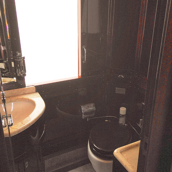 orient express train shared bathroom