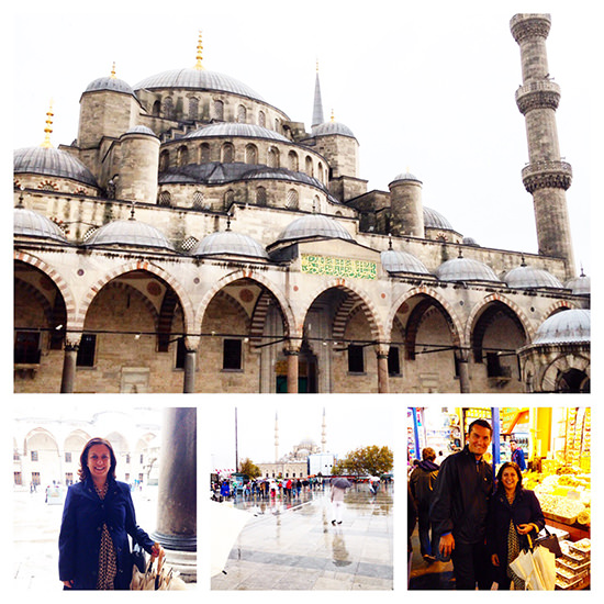 The Blue Mosque did not provide shelter so we had one option... to shop, of course!