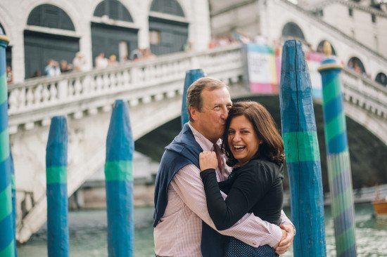A very happy moment in Venice. Photo by Serena Genoviese for Flytographer.