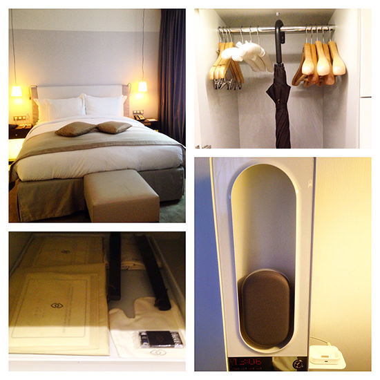 Room details at the Sofitel Paris Arc