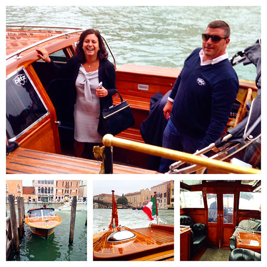 Our very stylish private boat limousine transfer, courtesy of Blitz Exclusive