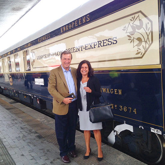 Venice simplon orient express train departing from venice