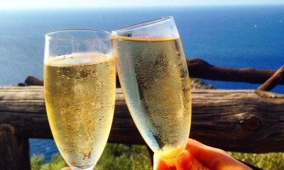 Cava, sun and a view in Mallorca. Stunning!