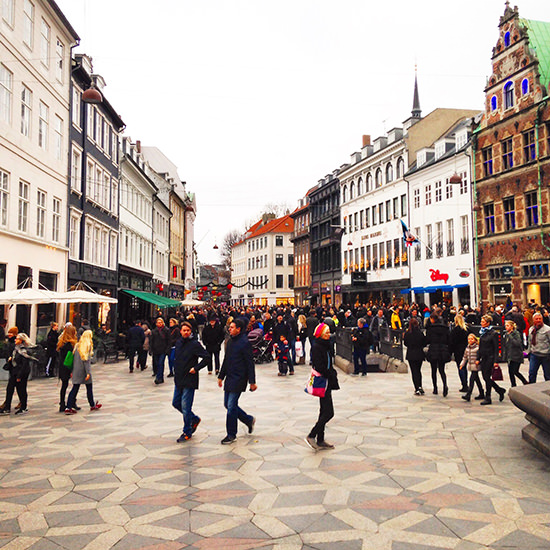 Stroget, the heart of Copenhagen's shopping district