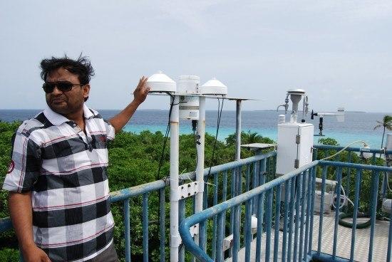 Dr Krishnakant Bubhavant of Maldives Climate Observatory