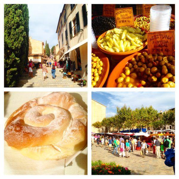 pollenca market in mallorca