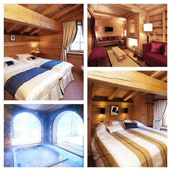Some of the other bedrooms, the living space and the hot tub!