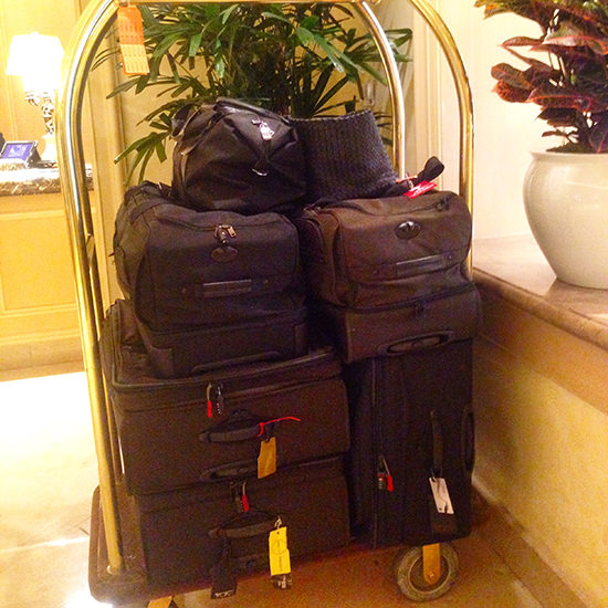 A decent amount of luggage for 2 weeks, non??