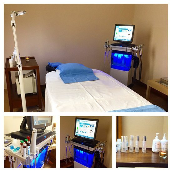 The HydraFacial MD set up at the Kempinski Spa.