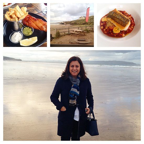 Lunch at Harry's Shack in Portstewart and the fab Strand Beach