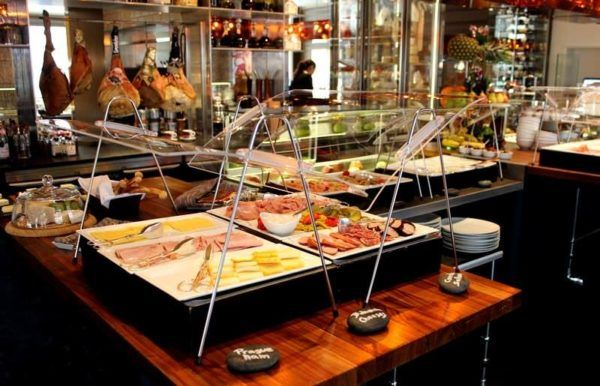 A very very nice breakfast buffet (with cooked to order hot dishes) at the Four Seasons Prague. Photo by hotel.