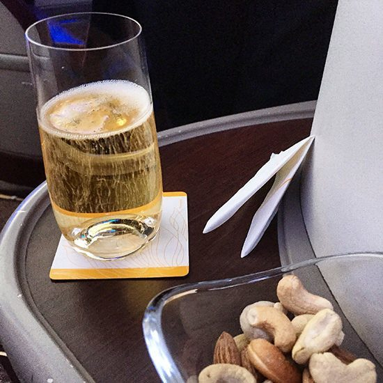 Bollinger champagne and nuts