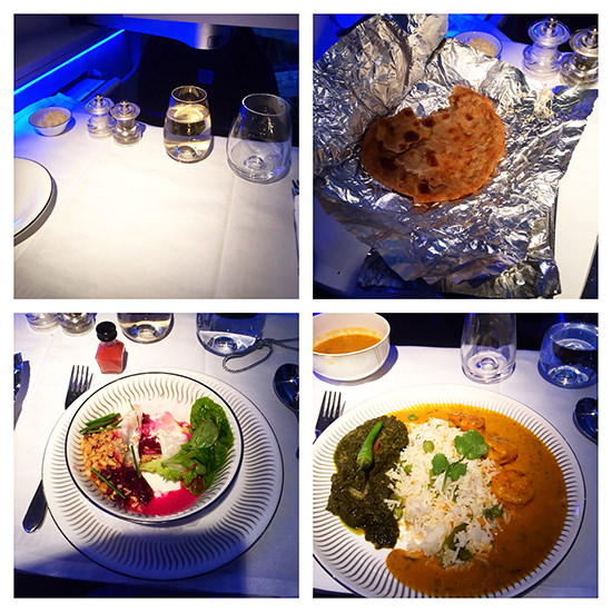 Jet Airways Business Class meal