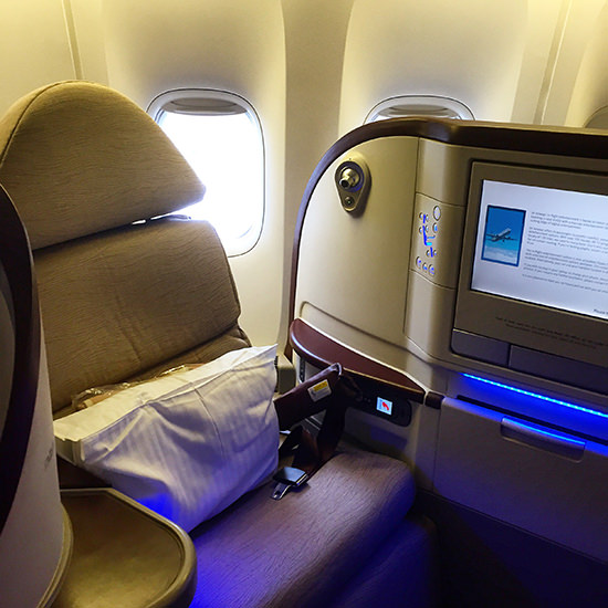 Jet Airways Business Class seat