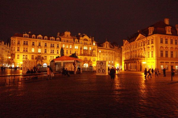 The Old Town Square by night. Photo taken with Leica T.